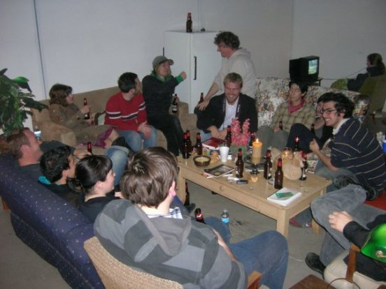 The Act of Drinking Beer with Friends Is Still the Highest Form of Art (after Tom Marioni), 2009