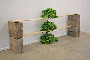 Trickle Down, sculptural situation, 2010