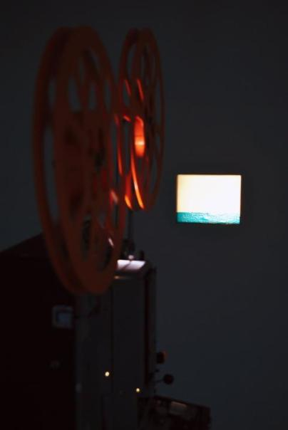 Let's not shit ourselves, your illusions have always been made of blue tape, 16mm projector and duct tape, 2011