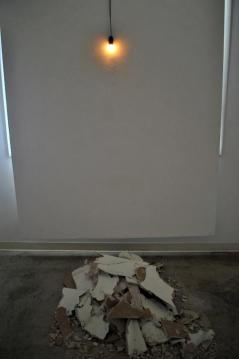 The Light That Never Goes Out Until It Does, sculpture, 2011