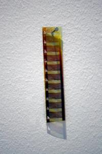 Untitled (filmstrip for a utopian horizon) 16mm filmstrip, nail 2012
