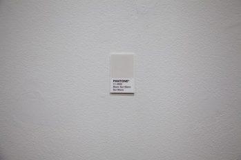 "Pantone 11-4800 (Blanc Sur Blanc Sur Blanc),"" 2017, ink on paper"